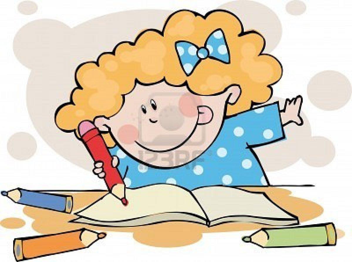 Clipart doing homework