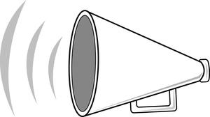 Clip Art Megaphone Clip Art cheer megaphone clipart black and white free 2 gclipart com tumundografico 2