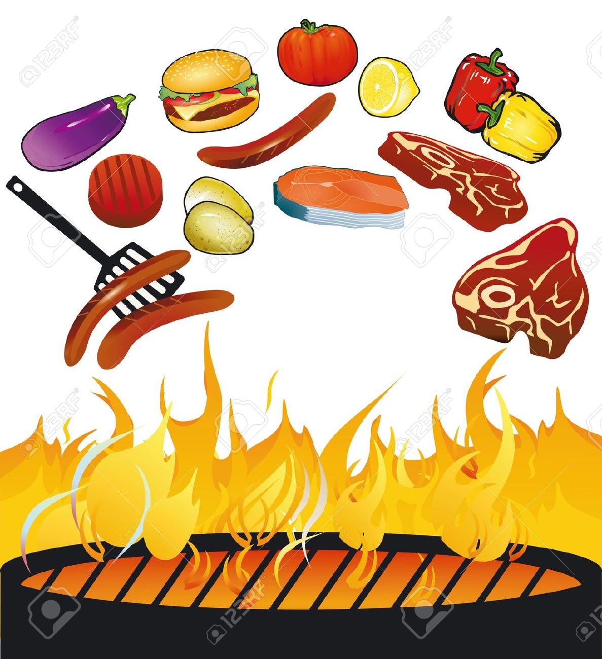 Clipart of bbq grill