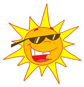 Clipart sun with sunglasses clipartfox