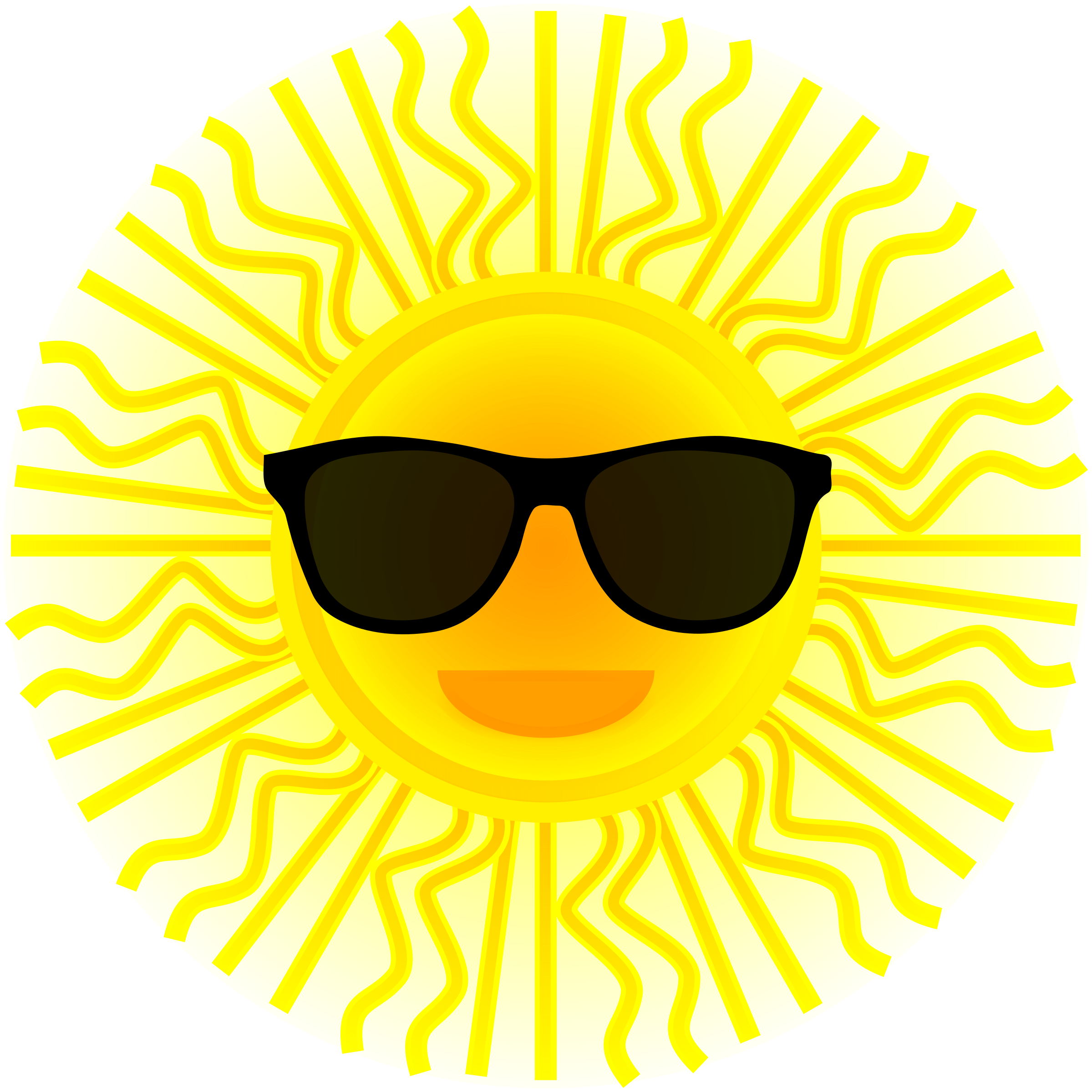 Clipart sun with sunglasses