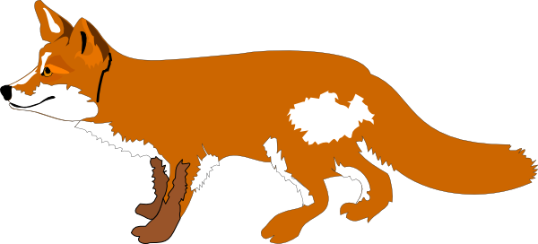 Contour fox clip art at vector 2