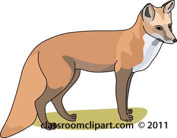 Contour fox clip art at vector