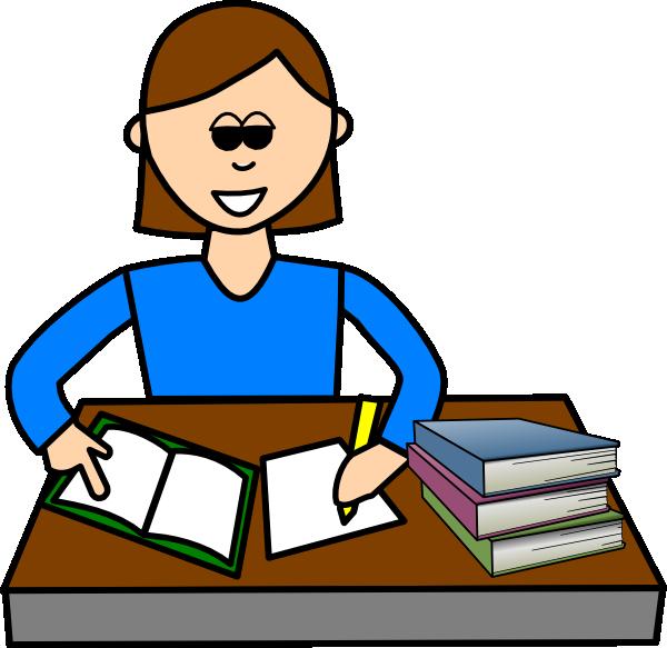 Copying homework clipart