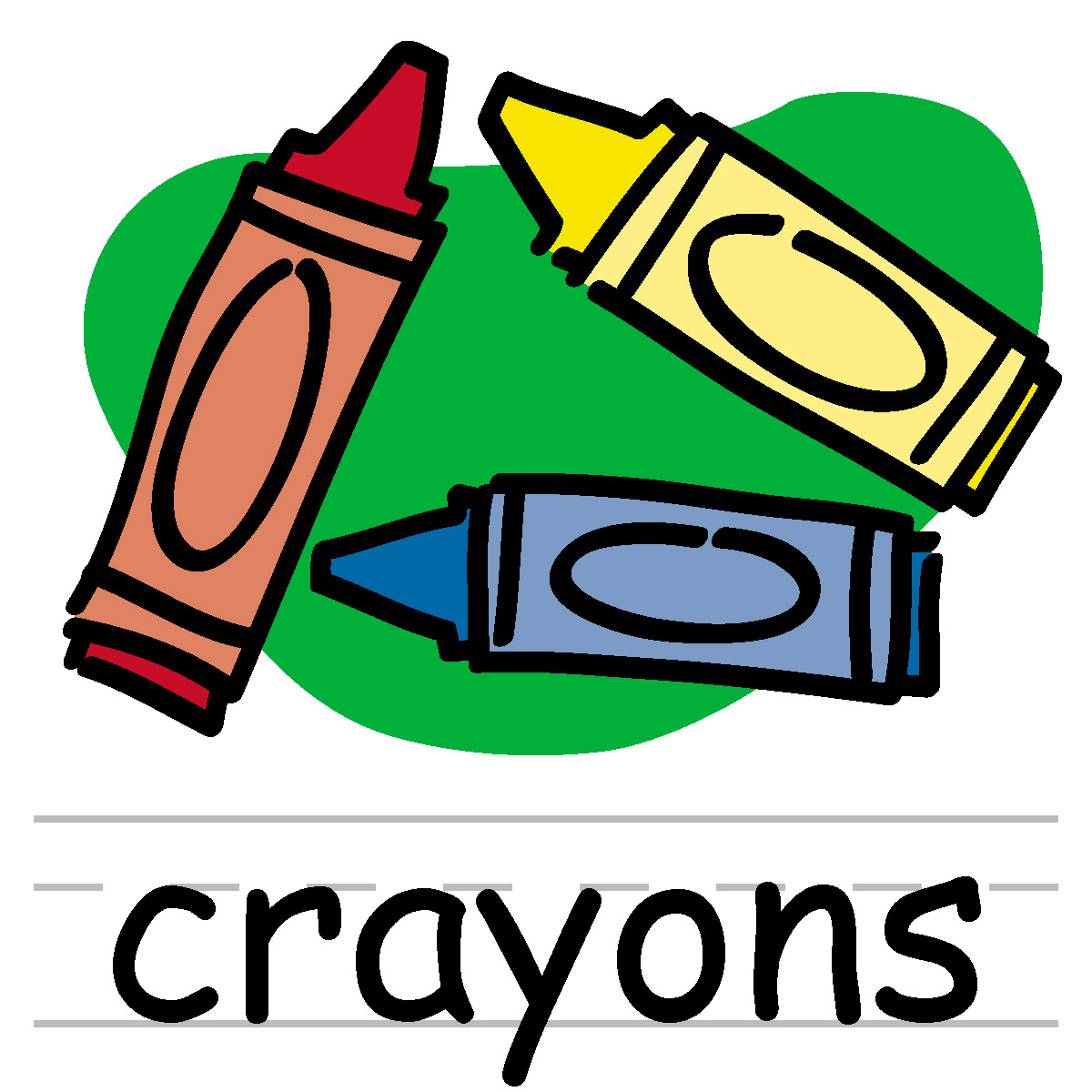 Crayon clipart black and white free images