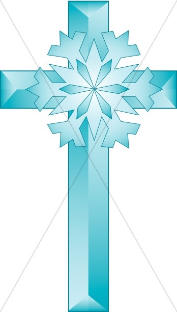 Cross snowflake clipart