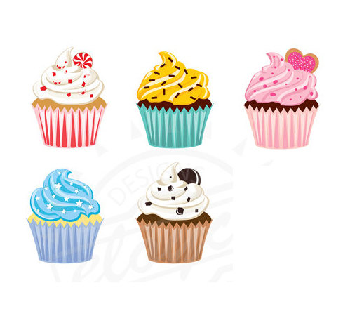 Cupcakes clip art free clipart images