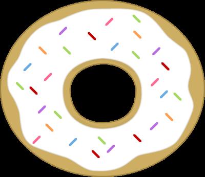 Cute donut clipart 2