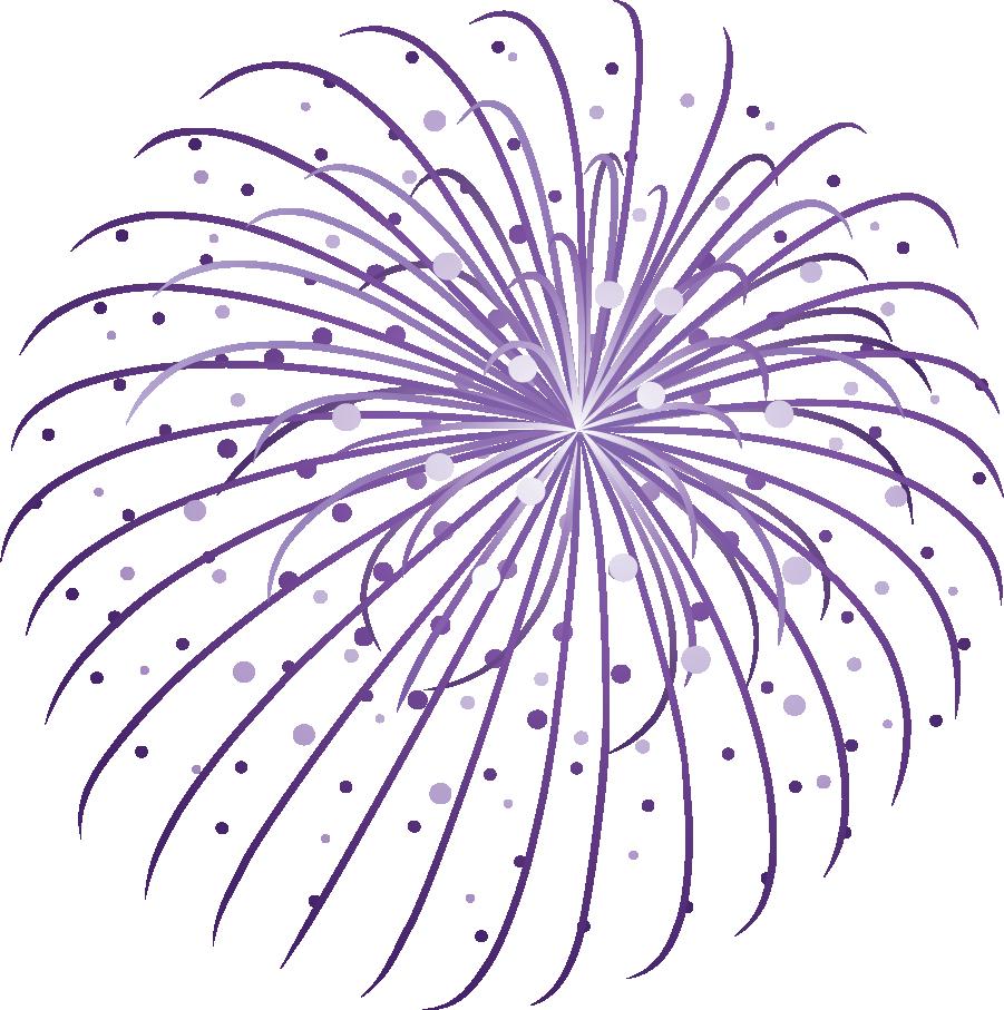 Cute fireworks clipart 2