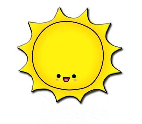 Cute sun with sunglasses clipart 2