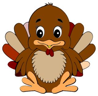 Cute turkey free clipart 3