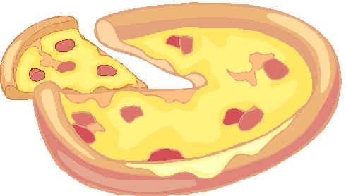 Cutting pizza clip art cutting image 2
