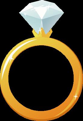 Diamond engagement ring clipart
