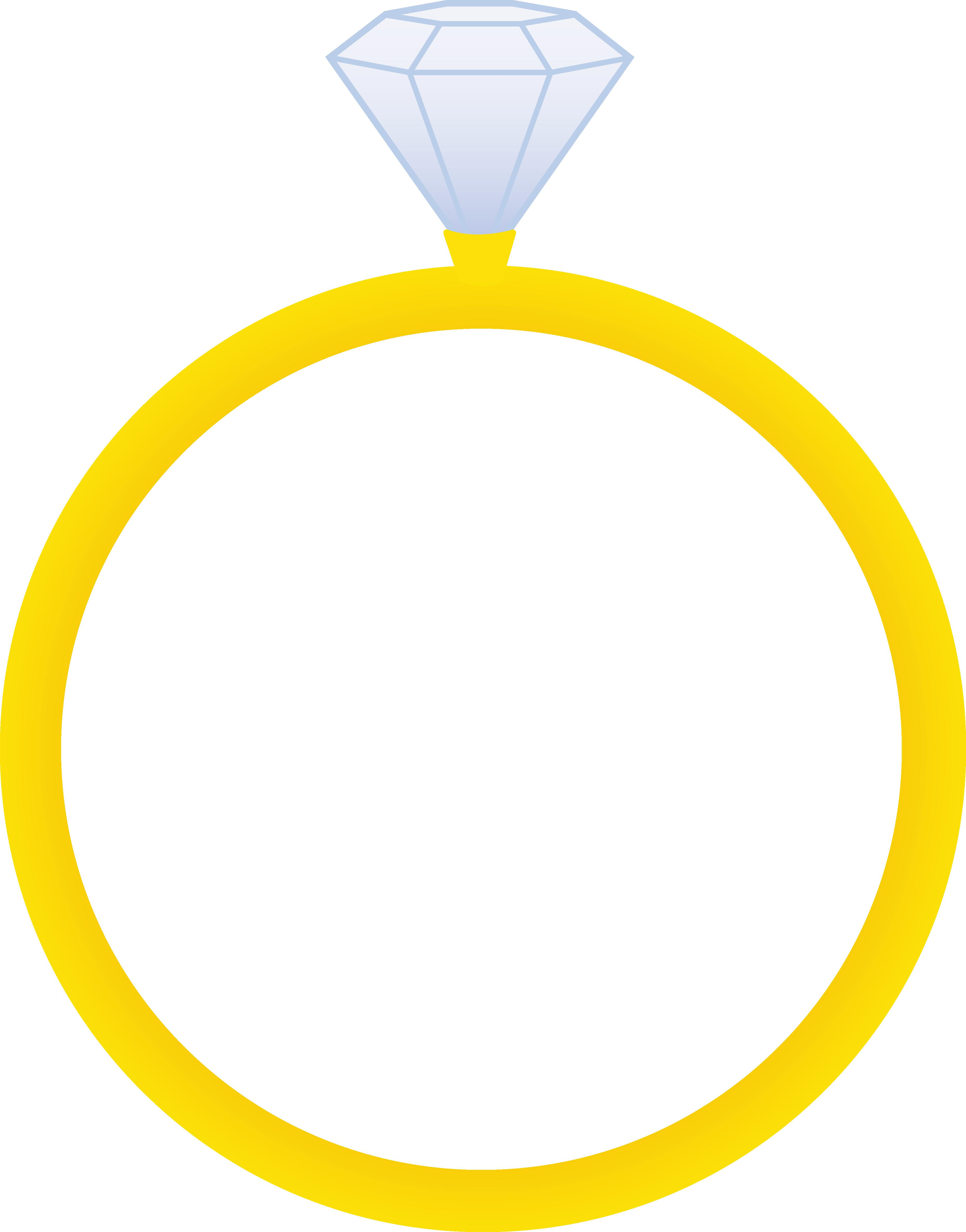 Diamond ring clip art free clipart images 6
