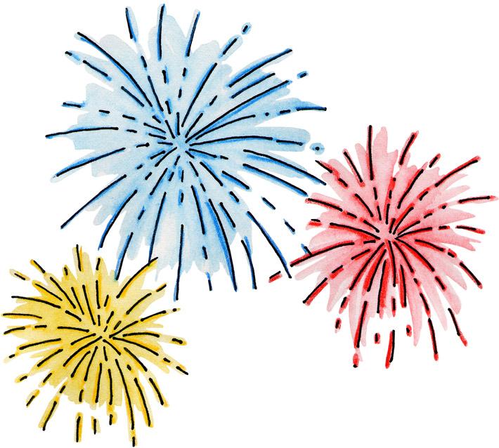 Disney fireworks clipart