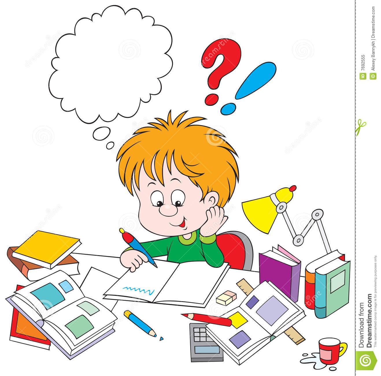 Doing homework clipart tumundografico