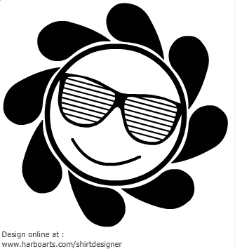 Download sun with sunglasses vector graphic