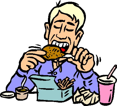Eating lunch clipart free images