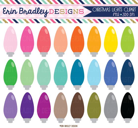 Erin bradley designs new christmas lights clipart