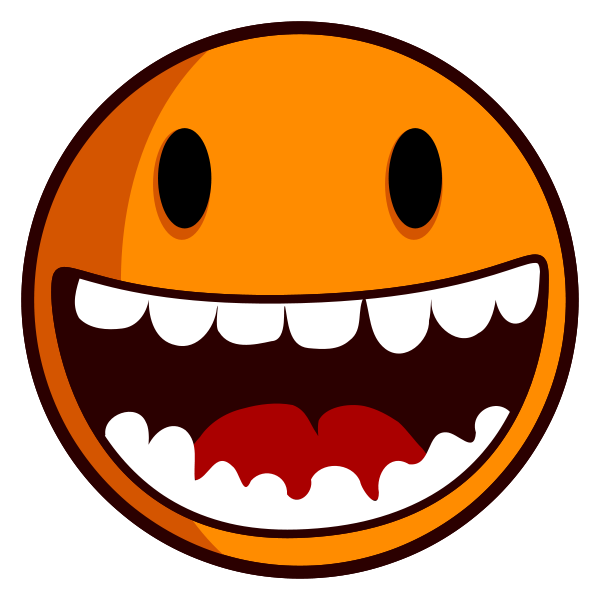 Excited smiley face clipart