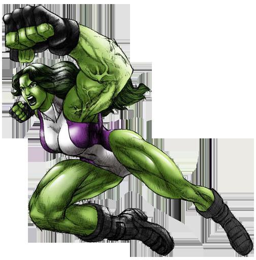 Female hulk clipart