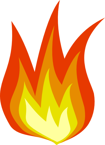 Flame clip art free clipart images