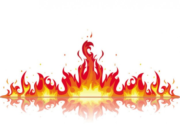 Flame clipart 3