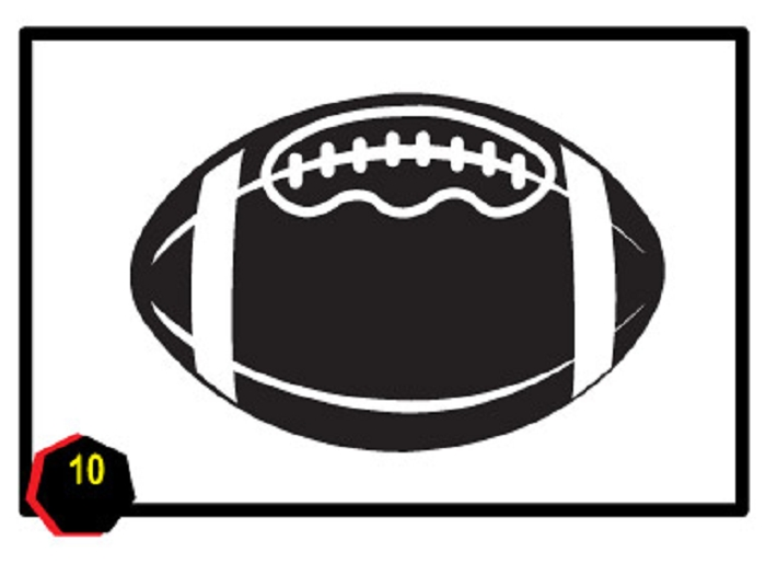 Football clip art frames free clipart images