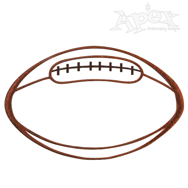 Football outline embroidery design