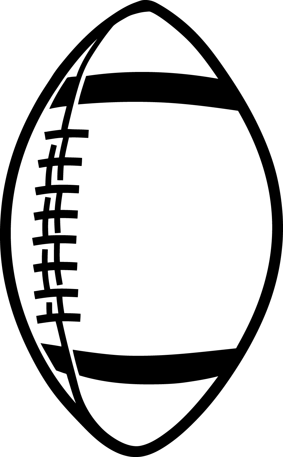 Football outline image free clipart images 2