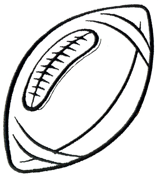 Football outline image free clipart images 3