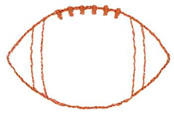 Football outline image free clipart images 8
