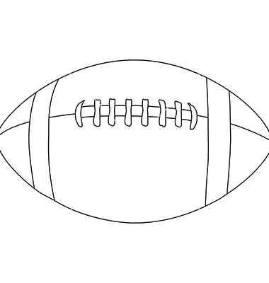 Football outline images cliparts