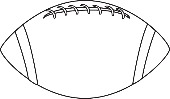 Football outline outline of a football clipart 3