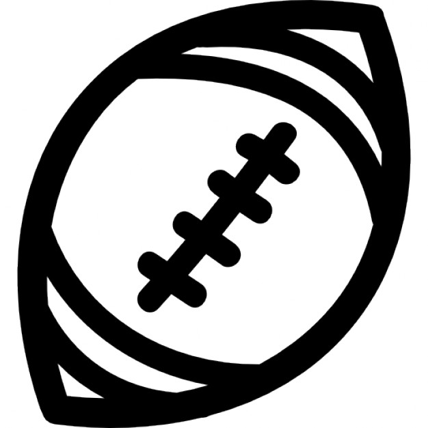 Football outline picture clipart 2