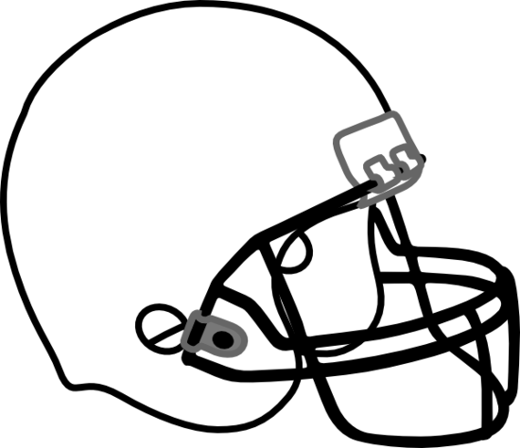 Football outline picture clipart