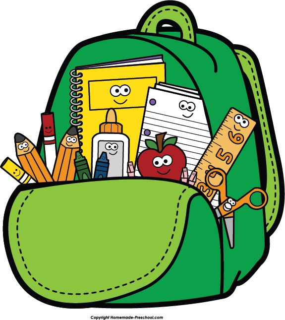 Free backpack clipart pictures