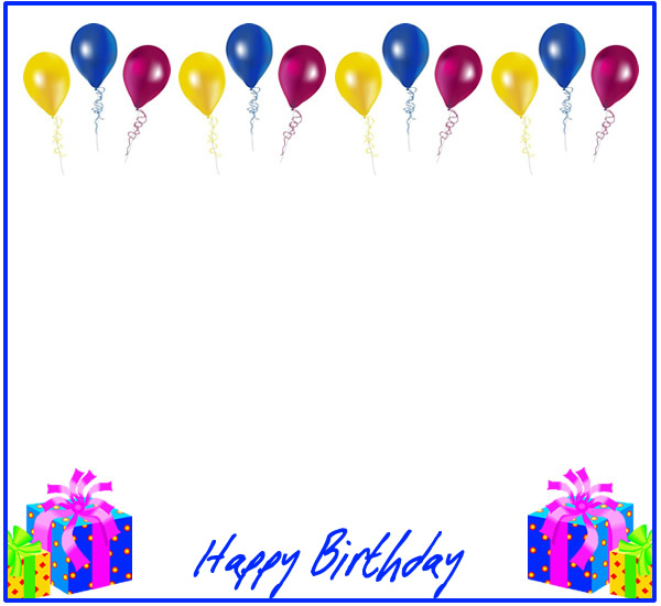 Free birthday borders for invitations and other projects 6