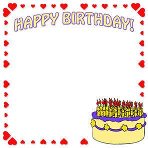 Free birthday borders happy border clip art 5