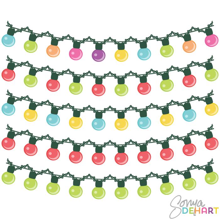 Free christmas lights clipart clip art 2