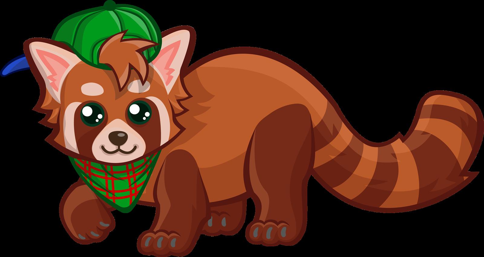 Free cute red panda clip art