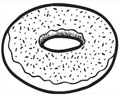 Free donut clipart clip art black white clipart 2
