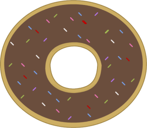 Free donut clipart clip art black white clipart