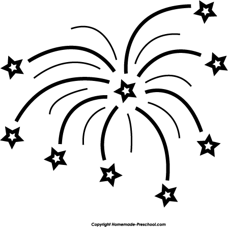 Free fireworks clipart 3