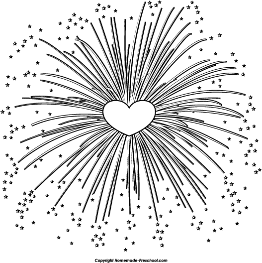 Free fireworks clipart 6