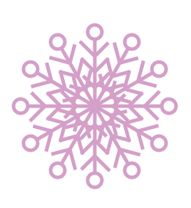 Free pink snowflake clipart
