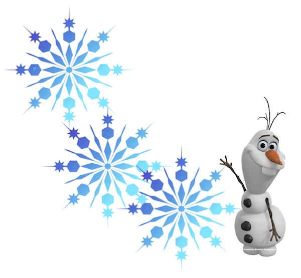 Free snowflake clipart background