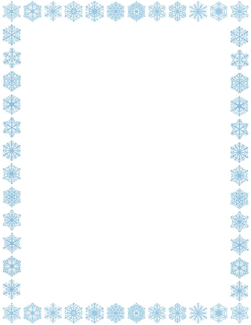 Free snowflake clipart borders