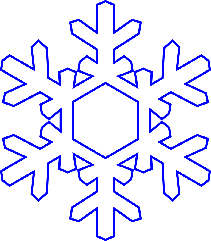 Free snowflake clipart transparent background 2
