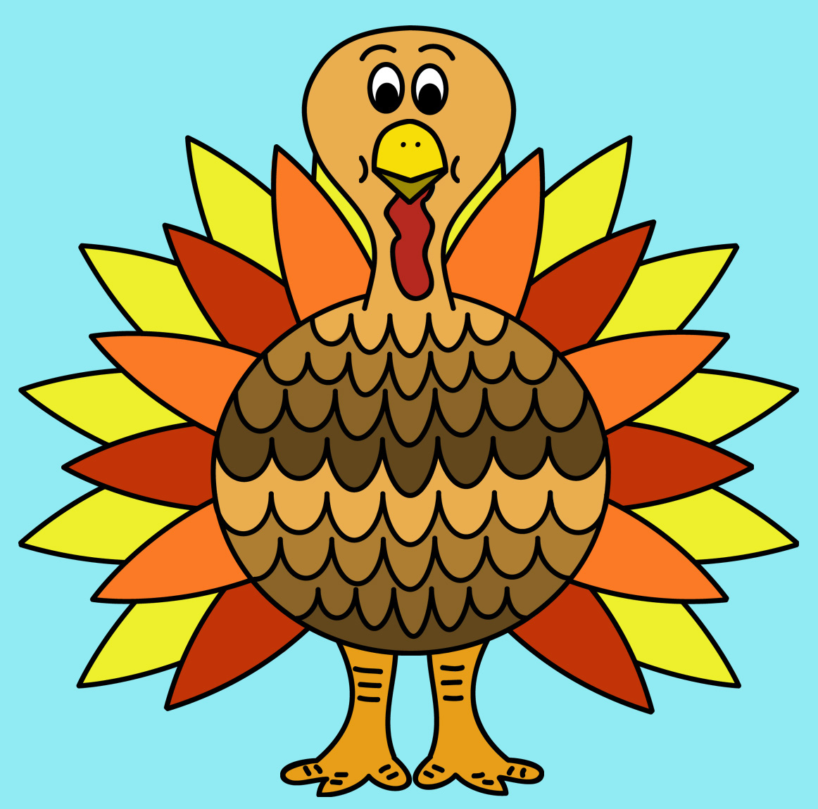 Free turkey clip art tumundografico 2